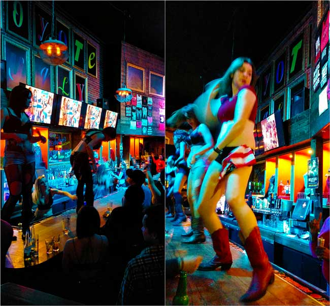 Coyote-Ugly-San-Diego-Gaslamp-Saturday-night