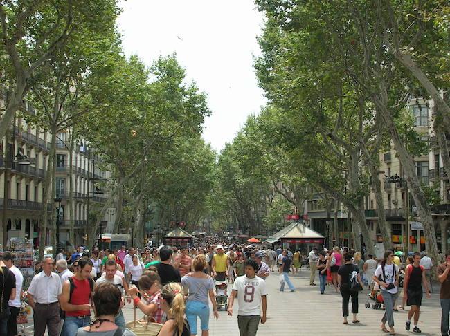 La Rambla Barcelona Summer Photo