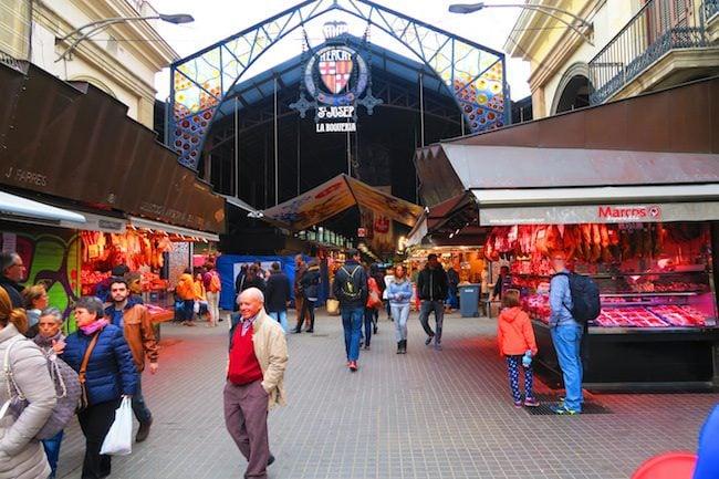 Mercat de la Boqueria Barcelona Entrance