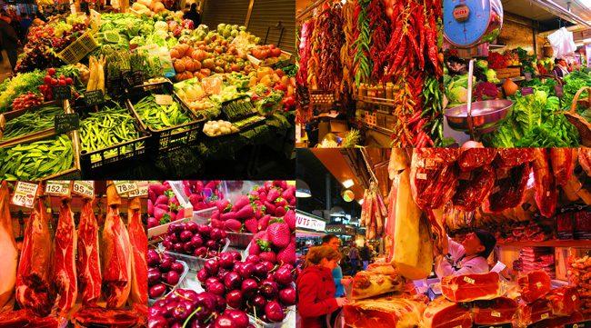 Mercat de la Boqueria Barcelona Fruits and Meats