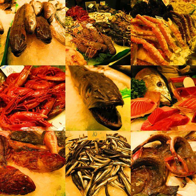 Mercat de la Boqueria Barcelona Seafood Section