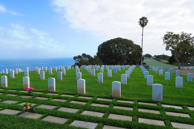 Navy cemetery San Diego Point Loma