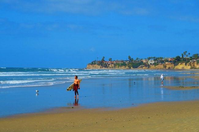 Pacific Beach surfer