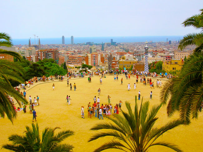 Park-Guell-Barcelona-Overlook-to-City