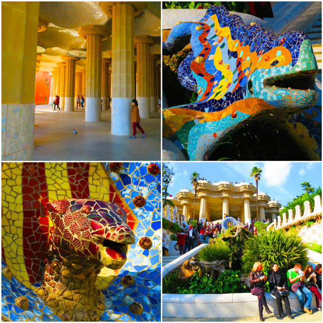Park-Guell-Dragon-and-Pillars