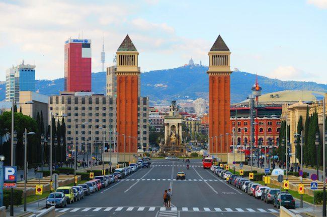 Placa d'Espanya Panoramic View Barcelona