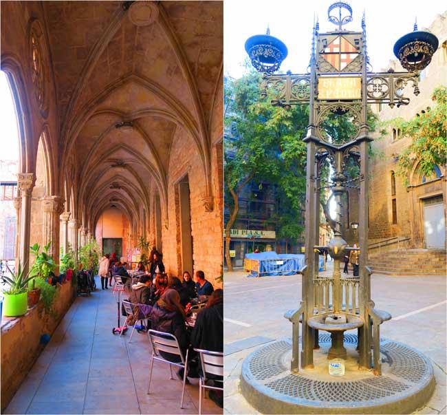 Placa de Sant Pere and Bar del Convent Barcelona