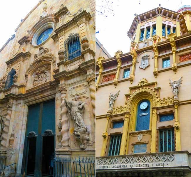 Teatre Poliorama and Esglesia de Betlem Barcelona