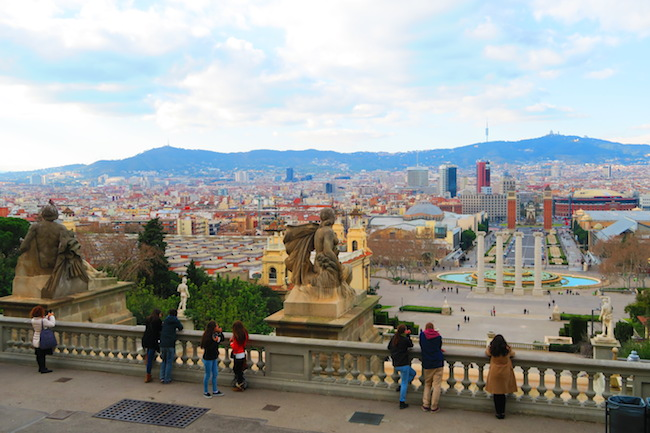 View from top of Placa d'Espanya