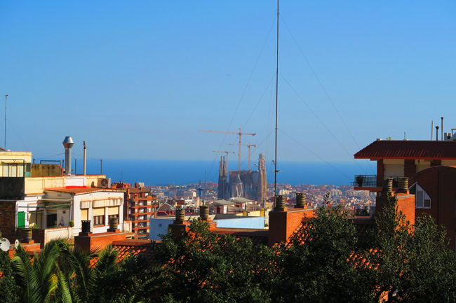 View-of-Sagrada-Familia-from-Park-Guell