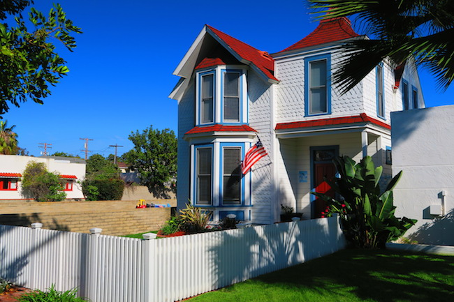 White picket fence house Cornadi California