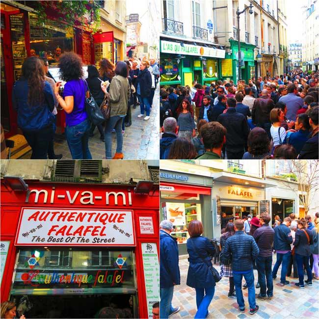 Falafel in Rue des Rosiers Marais Oaris
