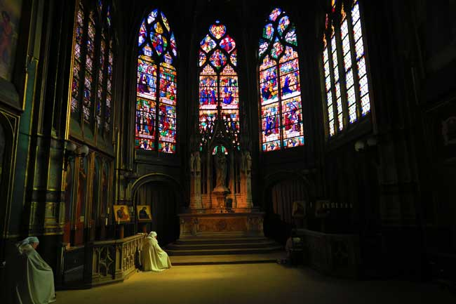 Inside St-Gervais-St-Protais church Paris