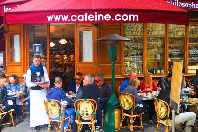 Les Philosophes Cafe in Marais Paris