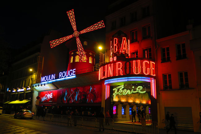 Moulin Rouge Paris famous red windmill