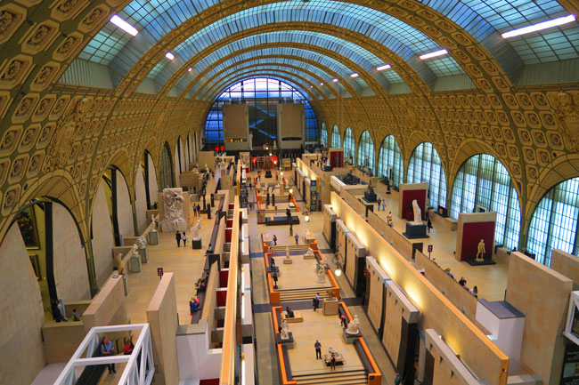 Musée d'Orsay Paris birds eye view