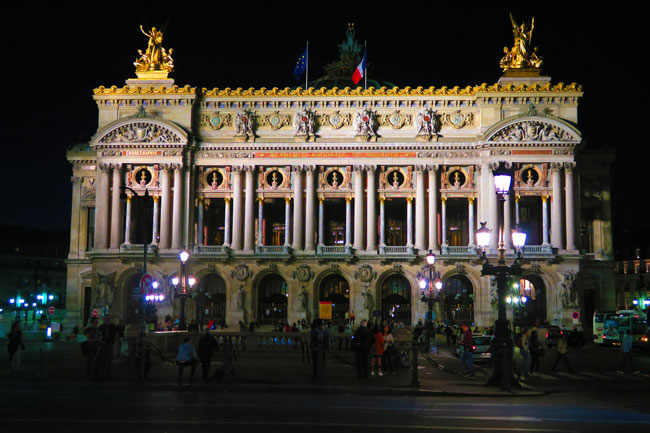Opera Garnier Paris at night