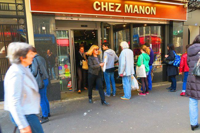 Paris busy bakery in the marais