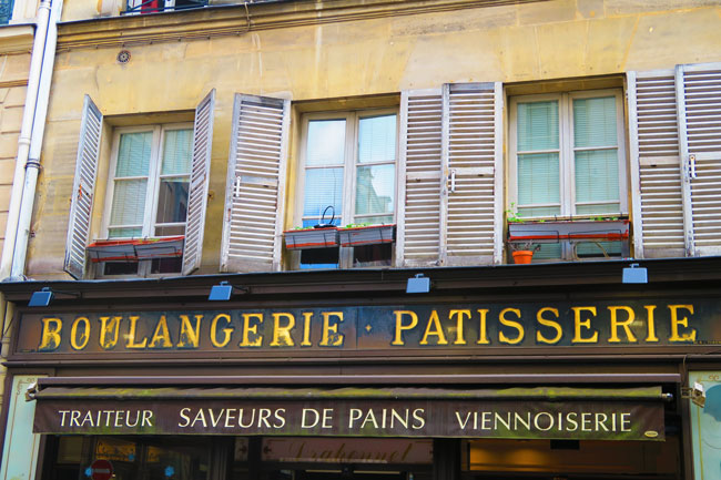 Paris charming classic bakery