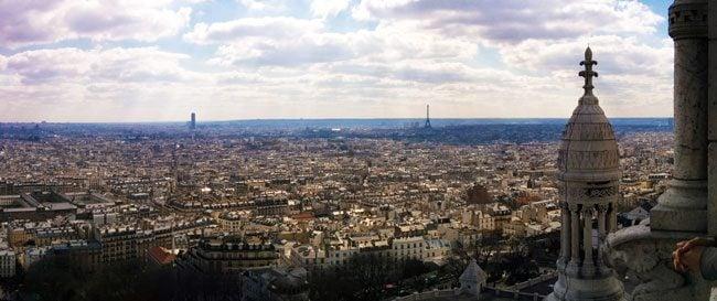 Paris panorama from sacre coeur