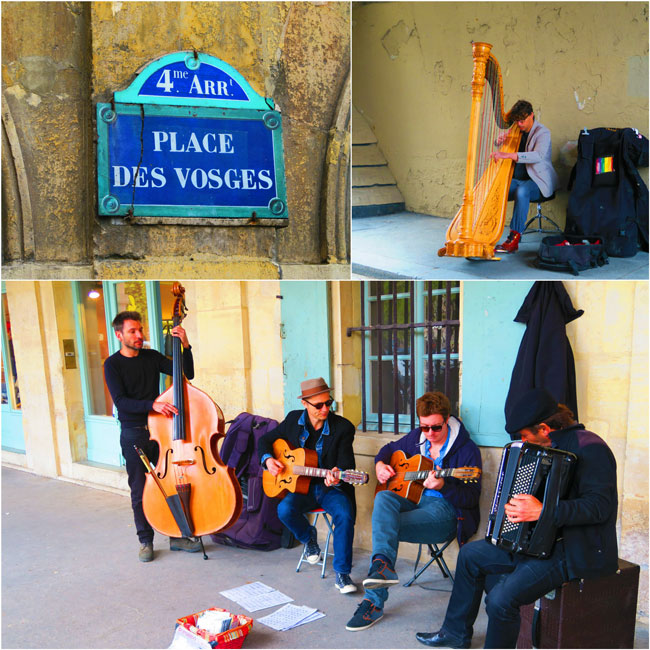 Place de Vosges Live street music Paris