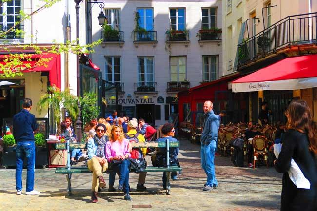 Place du Marche Ste Catherine marais paris cute spot