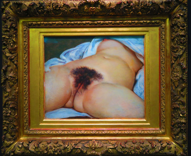 The Origin of the World Gustave Courbet Musee d'Orsay Paris