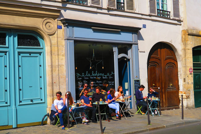 Things to do in Paris brunch in the marais