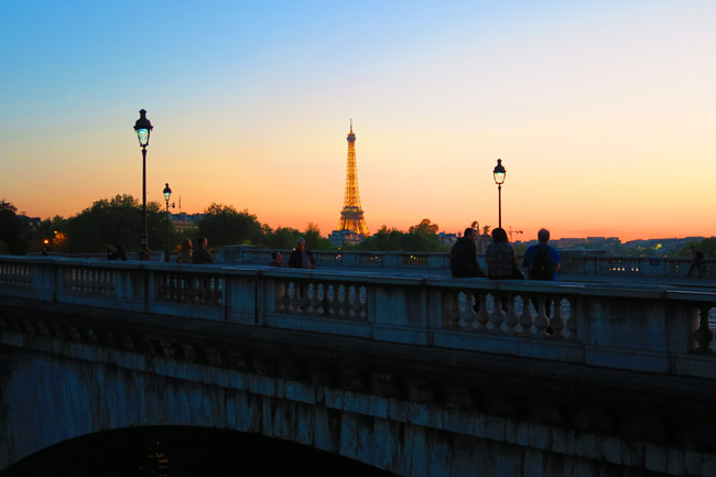 Classic Paris twighlight sunset photo
