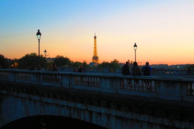 Classic Paris twighlight sunset photo