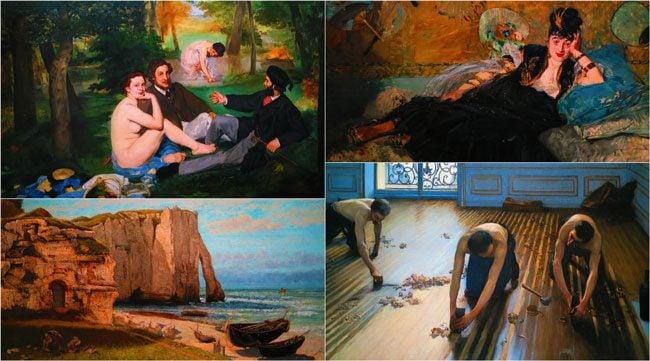 Impressionist paintings at musee dorsay paris
