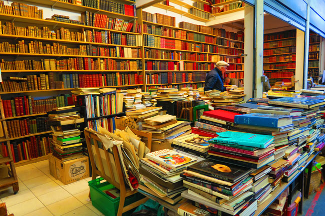 paris flea market marche aux puces Marché Le Passage old books