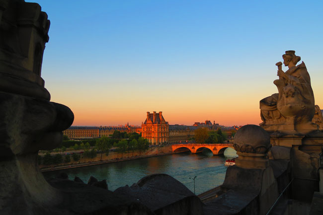 Paris twilight photo from musee dorsay terrace