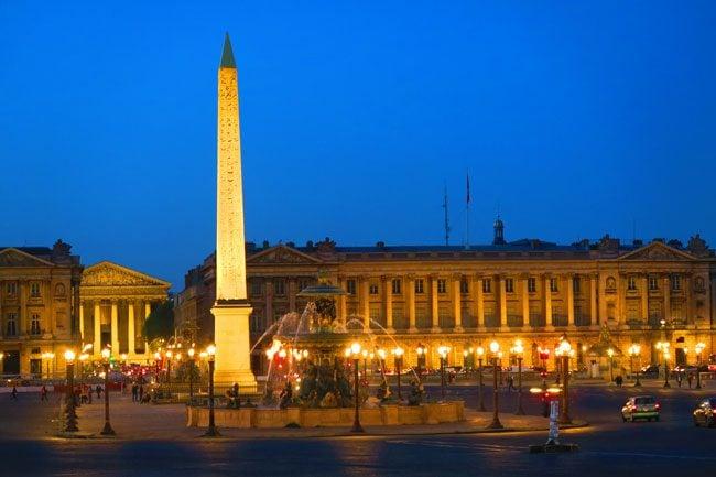 Place de la Concorde Paris twighlight sunset photo
