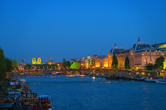 River Seine Paris twighlight sunset photo