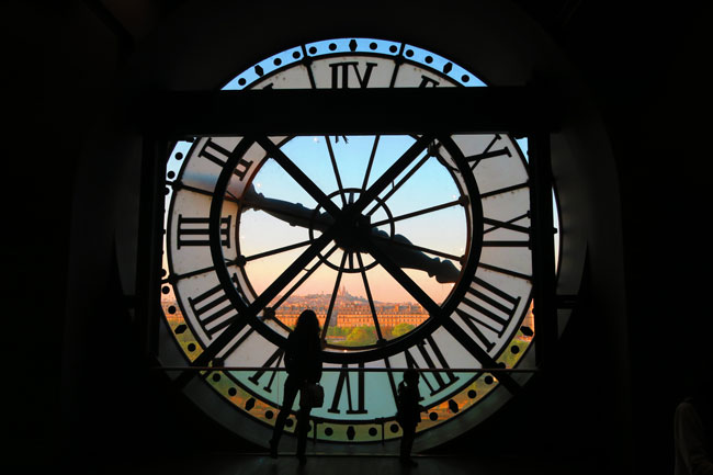 Sacre Coeur from Musee dOrsay giant clock