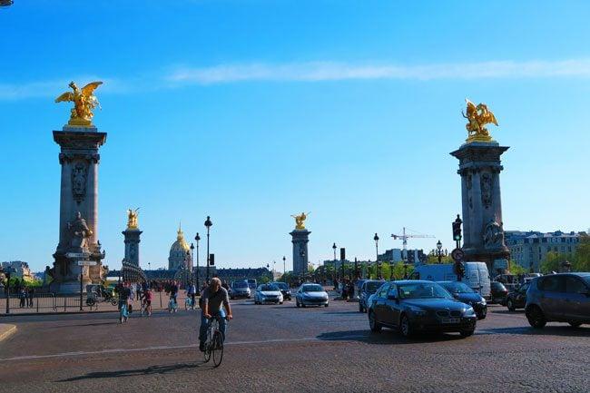Approaching Pont Alexandre III Paris