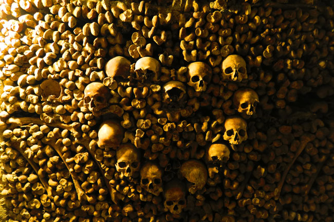 Catacombes Paris underground cemetery heart shaped