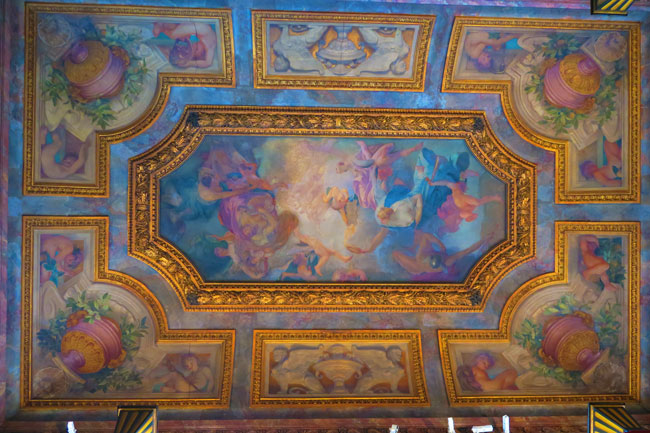 Ceiling of the Music Room at Musee Jacquemart Andre Paris museum