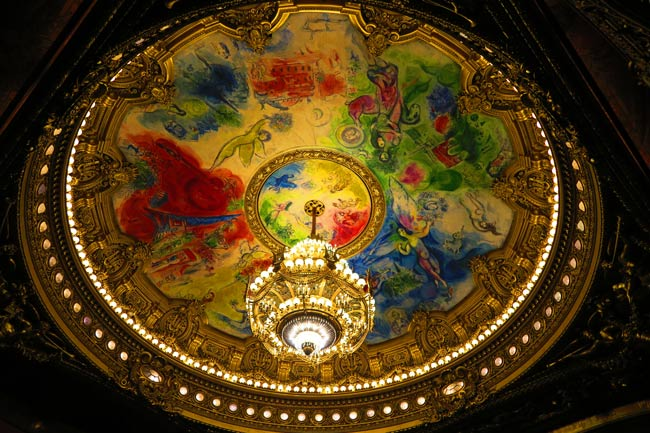 Chagall's painting in Grand Palais Opera Paris