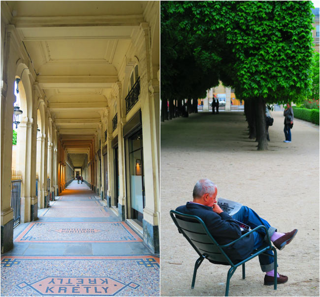 Chilling at Jardins du Palais Royal Paris