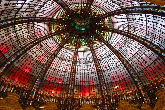 Classic ceiling at Gallery Lafayette Paris
