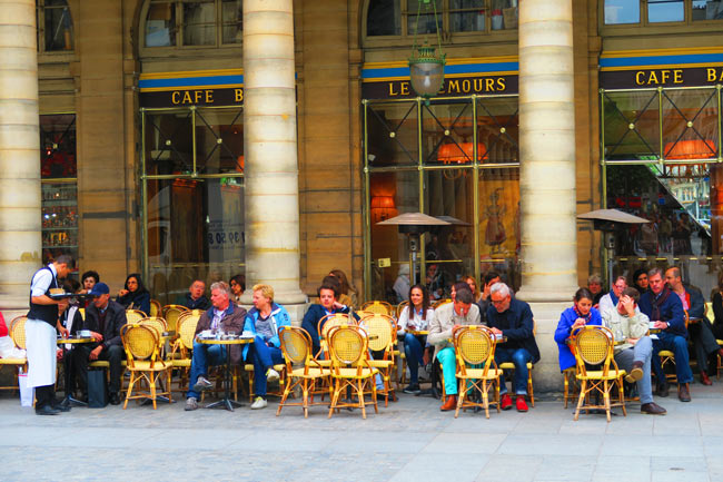 Classic Paris Cafe near Louvre Cafe Le Nemours