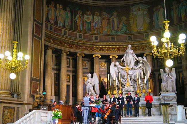 Classical music concert at La Madeleine in Paris