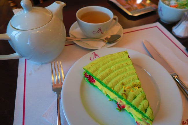 Delicious pastry at the tea house in Musee Jacquemart Andre Paris museum
