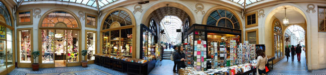 Galerie Vivienne Paris passages panoramic photo