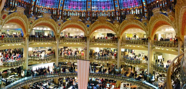 Gallery Lafayette Paris panoramic photo