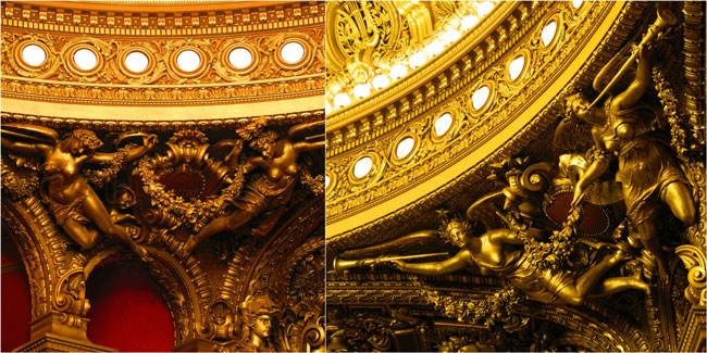 Grand Palais auditorium ornaments