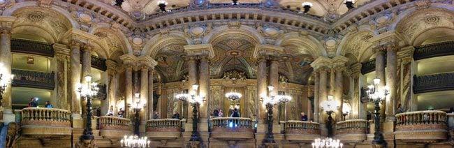 Grand Staircase Palais Garnier Opera Garnier Paris panormaic view