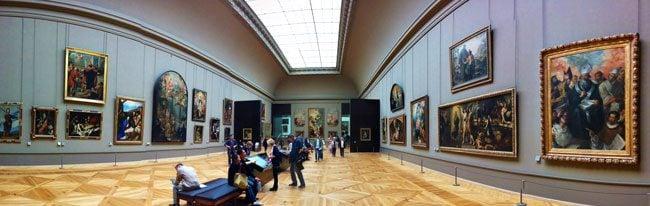 Louvre museum Paris panormic view